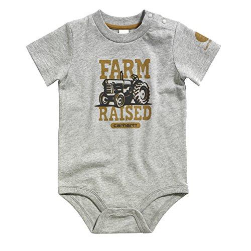 Carhartt Baby-Boys Infant Farm Raised Bodyshirt, Grey, 6 Months