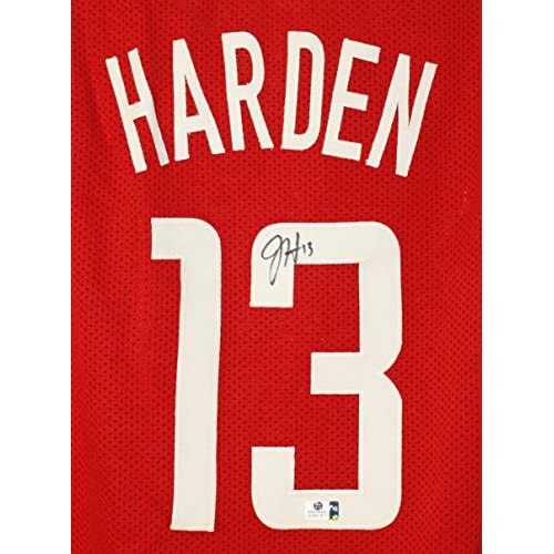 buy online 072a7 e7347 30%OFF James Harden Houston Rockets Signed Autographed Red ...