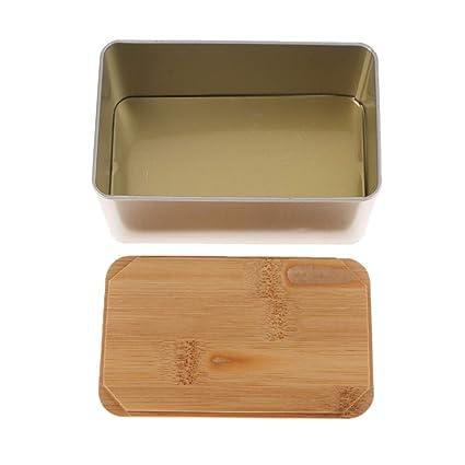 KESOTO Caja de té (Lata Caja para Bolsas de té Bolsas de té Caja de