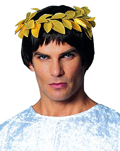 Gold Laurel Leaf Wreath - OvedcRay Roman Greek Goddess Athena Green Gold Laurel Leaf Costume Wreath Headpiece Crown