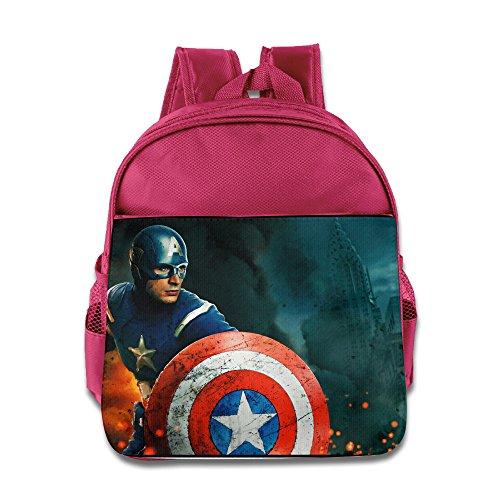 XJBD Custom Funny Marvel Hero Teenager School Bagpack Bag For 1-6 Years Old Pink