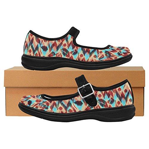 Jane Women's Walking Casual Flats Comfort Multi Shoes 7 InterestPrint Mary 7dxwtAqd