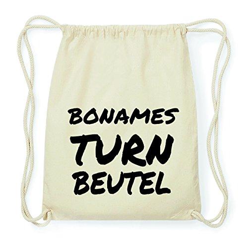 JOllify BONAMES Hipster Turnbeutel Tasche Rucksack aus Baumwolle - Farbe: natur Design: Turnbeutel eG0Io
