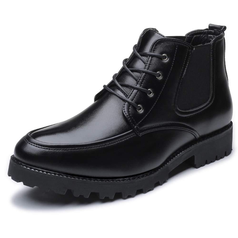 YAJIE-Stiefel, YAJIE-Stiefel, YAJIE-Stiefel, Ankle Stiefel der Männer, beiläufige Personennaht Bequeme Außensohle hoher Spitzenstiefel (Farbe   Schwarz, Größe   42 EU) 2a1bd2