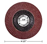 MIDO Professional Abrasive 4 1/2 Flap Disc 20-Pack