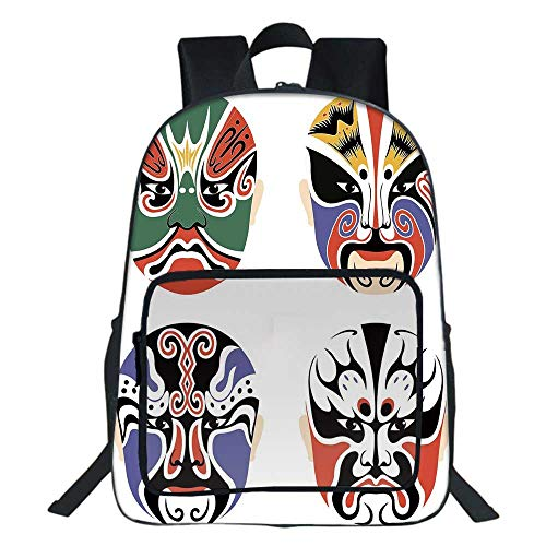 Used, Kabuki Mask Decoration School Bookbag,Traditional Chinese for sale  Delivered anywhere in USA