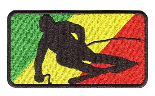 Major League Skiing Patch Rasta 9.5cm - Ski Jacket Patch - Ski Patches - Beanie - Coat - Jacket - Hat (Rasta) - Rasta Ski