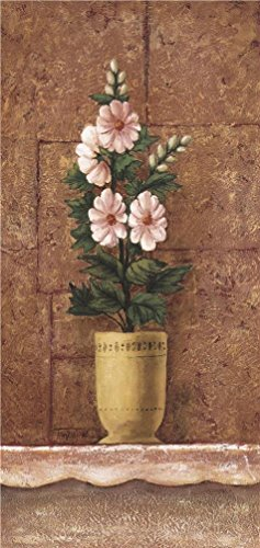 Oil Painting 'Pot Plant Of Pink Flowers' Printing On High Quality Polyster Canvas , 10x21 Inch / 25x54 Cm ,the Best Bar Decoration And Home Gallery Art And Gifts Is -