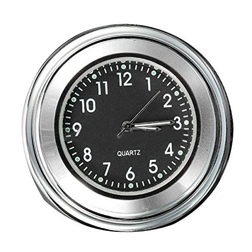 Motorcycle Handlebar Clock - TOOGOO(R) 7/8' 1' Universal Motorcycle Bike Handlebar Mount Dial Clock Waterproof TOOGOO (R) 058982