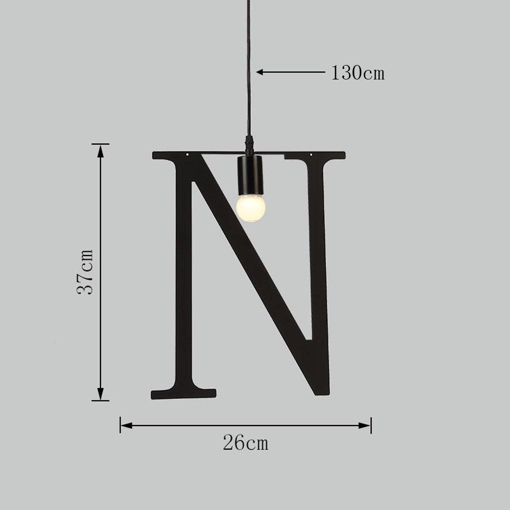 Anyer Creativity Iron Art Single Head Industry Style Bar Counter Art Study Light Window Display Light,N