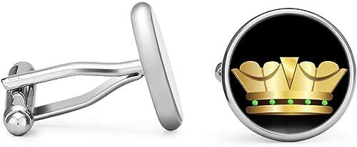 Contoured Edition Oakmont Cufflinks Crown Cufflinks Gold Crown Cuff Links