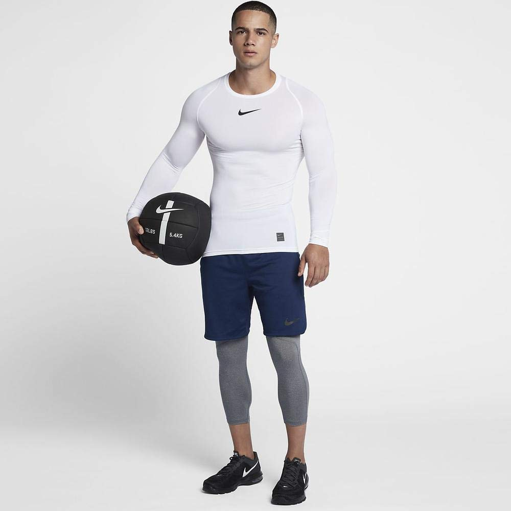 Nike Men's Pro 3qt Tight (Carbon Heather/Dark Grey/Black, Small) by Nike (Image #3)