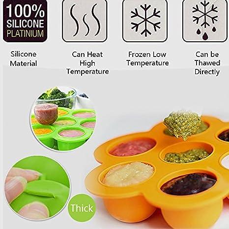Juego de 2) Bandeja de Congelador de Alimentos para Bebés de ...