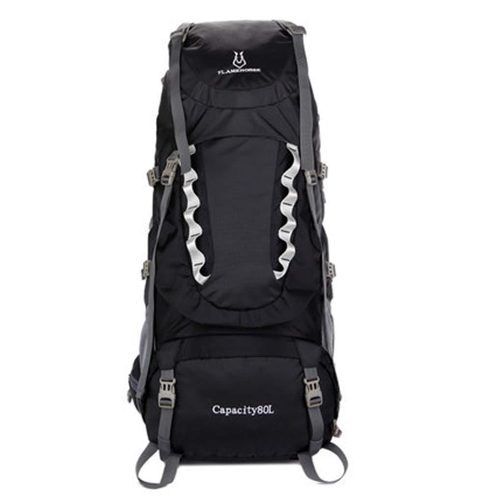 JTWJ アウトドアハイキングバックパックメンズショルダーバッグ女性大容量取り外し可能スチールフレーム防水スポーツウォーキングバッグ80 L (色 : 1)  1 B07SCRY9WW