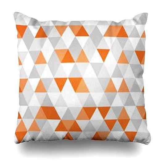 Homeyard funda de almohada con diseño gráfico amarillo gris ...