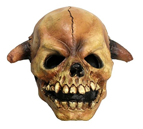 Grim Reaper Mask Latex Halloween Cosplay Face Skull Scary Demon Skeleton mask Brown -