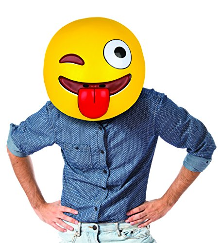 Costume Emoji Winking (BigMouth Inc Gigantic Winking Emoji)