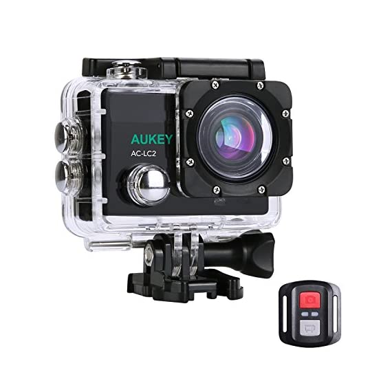 [Upgraded Version] AUKEY Action Camera, 4K Ultra HD Waterproof Underwater Sports Camera with 170 Degree Wide-Angle Lens, WiFi Phone Connection and 2.4GHz Remote - 51TdALxwvnL - [Upgraded Version] AUKEY Action Camera, 4K Ultra HD Waterproof Underwater Sports Camera with 170 Degree Wide-Angle Lens, WiFi Phone Connection and 2.4GHz Remote
