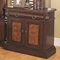 Coaster Home Furnishings Grand Prado Collection Nightstand, Cappuccino