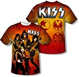 Youth: KISS - Fire Pose (Front - Back Print) (Front/Back Print) Kids T-Shirt Size YM