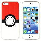 BRILA® iphone 5 5s SE pokemon case, Pokeball Pattern case for iphone 5s, iphone SE pokemon go case
