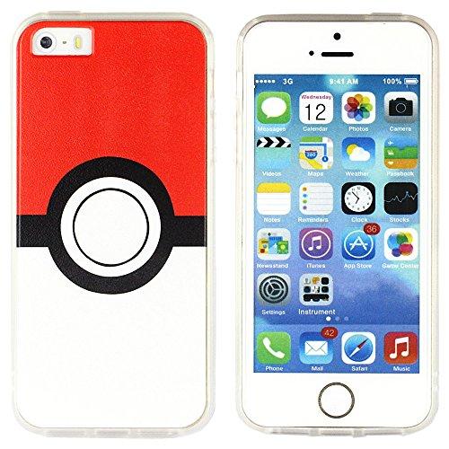 BRILA® iphone 5 5s SE pokemon case, Pokeball Pattern case for iphone 5s, iphone SE pokemon go case Photo - Pokemon Gaming