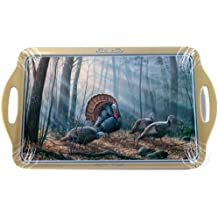 Motorhead Products 11 by 18-Inch Melamine Serving Tray, Featuring Wild Wings Licensed Art with Turkeys by Rosemary Millette