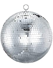 Mirror Disco Ball Sumono 12 Inch Mirror Ball Lightning Ball with Hanging Ring for DJ Club Stage Bar Party, Wedding Holiday Decoration