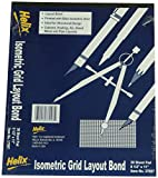 Helix Isometric Grid, 8.5 x 11 Inches, 30 Sheets, White (37997) Case of 50