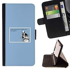 Momo Phone Case / Flip Funda de Cuero Case Cover - Shallow Cita Chica La vida divertida Tetas Grandes Hombre Amor - Sony Xperia Z2 D6502