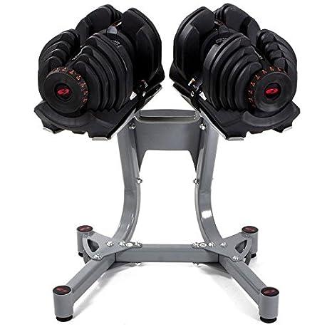 SG bowflex selecttech - Set 2 mancuernas de 40kg/u ajustable con soporte: Amazon.es: Deportes y aire libre