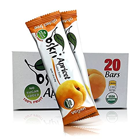 Oskri Organic Fruit Bars (20 Pack Apricots) - Bar Apricot