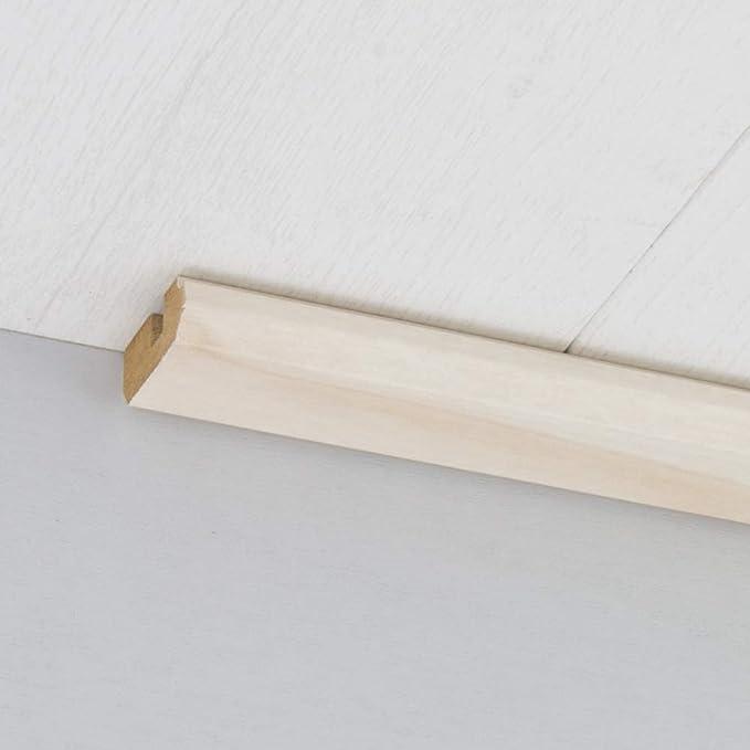 Winkelleiste Schutzwinkel Winkelprofil Tapeten-Eckleiste Abschlussleiste Abdeckleiste aus MDF in Birke wei/ß 2600 x 32 x 32 mm