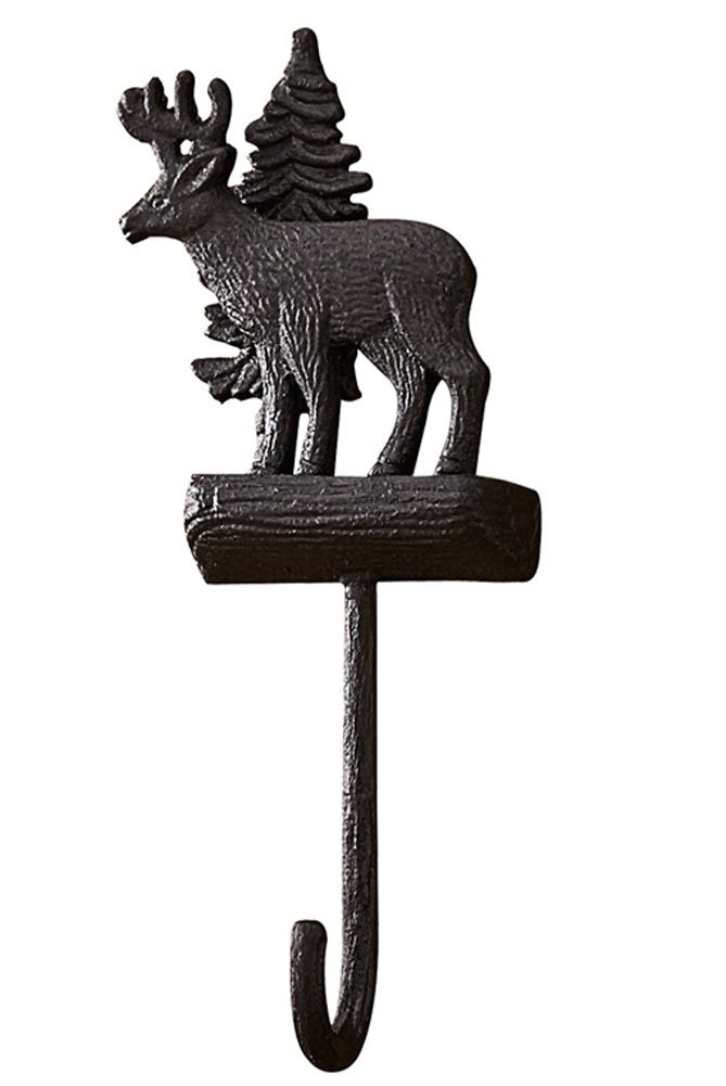Park Designs Rustic Deer Single Wall Hook - Matte Black