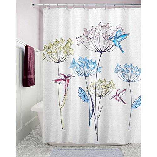 "InterDesign Hummingbird Fabric Shower Curtain – 72"" x 72""..."