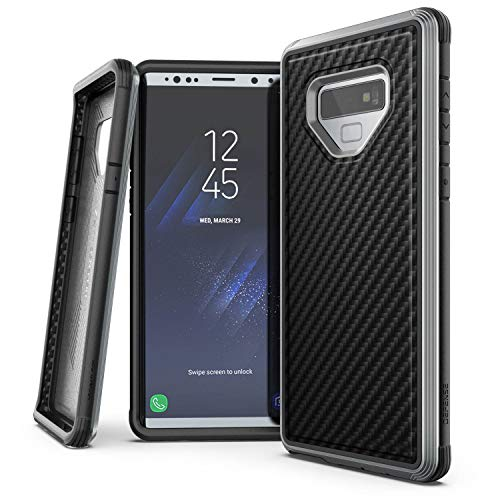 X-Doria Defense Lux Case for Samsung Galaxy Note 9 Military Grade Drop Tested, Impact Resistant, Premium Anodized Aluminum (Black Carbon Fiber)