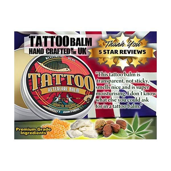 Tattoo Aftercare Balm Salve. Revitalise, Heal, Protect, Moisturise. Shea Butter, Teatree, Eucalyptus, Jojoba, Hemp Oil and Beeswax