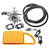 HIPA C1Q-S183 Carburetor for Stihl BR600 BR550 BR500 Backpack Leaf Blower with Air Filter Fuel Line Repower Tune Up Kit
