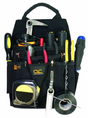 Custom Leathercraft 5505 Professional Electrician's Tool Pouch, Ballistic Poly, 12-Pocket by Custom Leathercraft