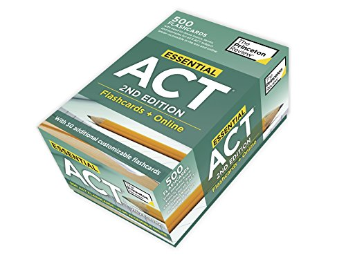 Essential ACT, 2nd Edition: Flashcards + Online: 500 Need-to-Know Topics and Terms to Help Boost Your ACT Score (College Test Preparation) ()