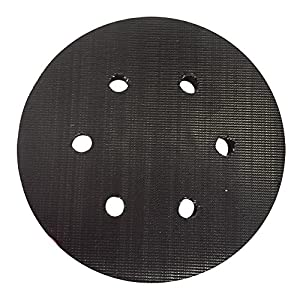 "Superior Pads and Abrasives RSP38 6"" Dia 6 Dust Holes with 5/16""- 24 Threaded Shaft Hook & Loop Replaces Porter Cable 18002"
