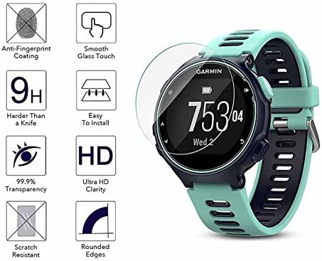 YANSHG® Para Garmin Forerunner 735XT Reloj El protector de cristal templado de la pantalla, anti-rasguña el protector de cristal templado 9H ultra claro: Amazon.es: Electrónica
