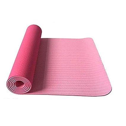 Amazon.com : Yoga mat TPE Yoga Mats,Anti-Ripped Fitness Pad ...