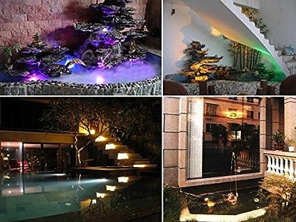 Mingdak® LED bajo el Agua Luz Foco Sumergible Fuente de jardín Paisaje lámpara para Acuario pecera Estanque Piscina, 36 ledes, 3 Colores Cambio iluminación, ...