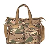 YB Nylon Brief Case Military Sling Shoulder Messenger Laptop Backpack(CP Camfolage)Paratrooper Bag