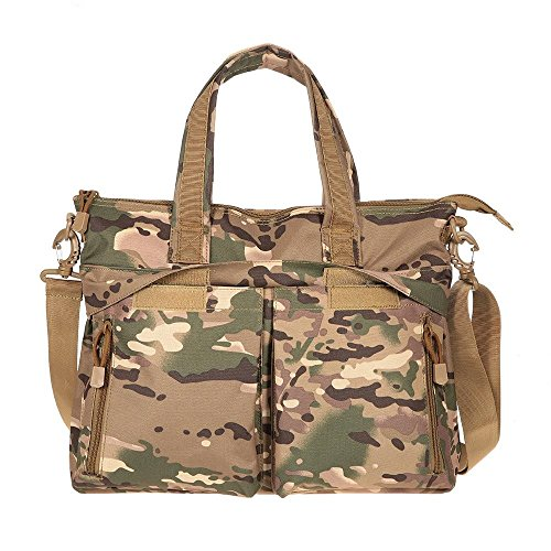 YB Nylon Brief Case Military Sling Shoulder Messenger Laptop Backpack(CP Camfolage)Paratrooper Bag by YB