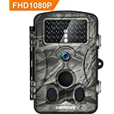 Earthtree Trail Camera 12MP 1080P FHD Game Hunting Camera with 120° Wide Detection Angel 42PCs 940nm IR LEDs Night Vision, 2.4 LCD Display Wildlife Camera with IP54 Waterproof