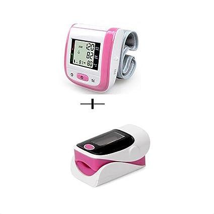 ZW Oxímetro de dedo y monitor de frecuencia cardíaca and Tensiómetro de muñeca equipo , Pink