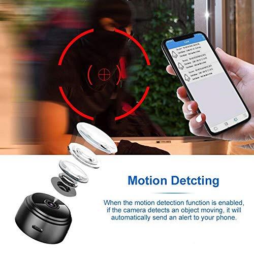 Amazon.com : Spy Camera Wireless Hidden Camera, Latest A17 HD 1080P WiFi Mini Camara Espias with 150 Wide Angle, Portable Wireless Covert Nanny Cam with ...