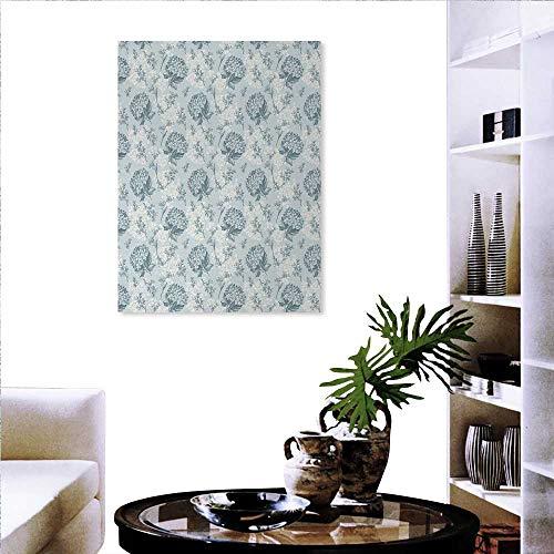 Pegatinas de pared con diseño de flor de familia caliente, estilo clásico, antiguo, para bicicleta, una cesta, flores, en...